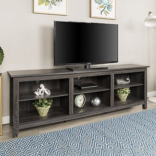 New 70 Inch Wide Television Stand In Charcoal Finish Click On The