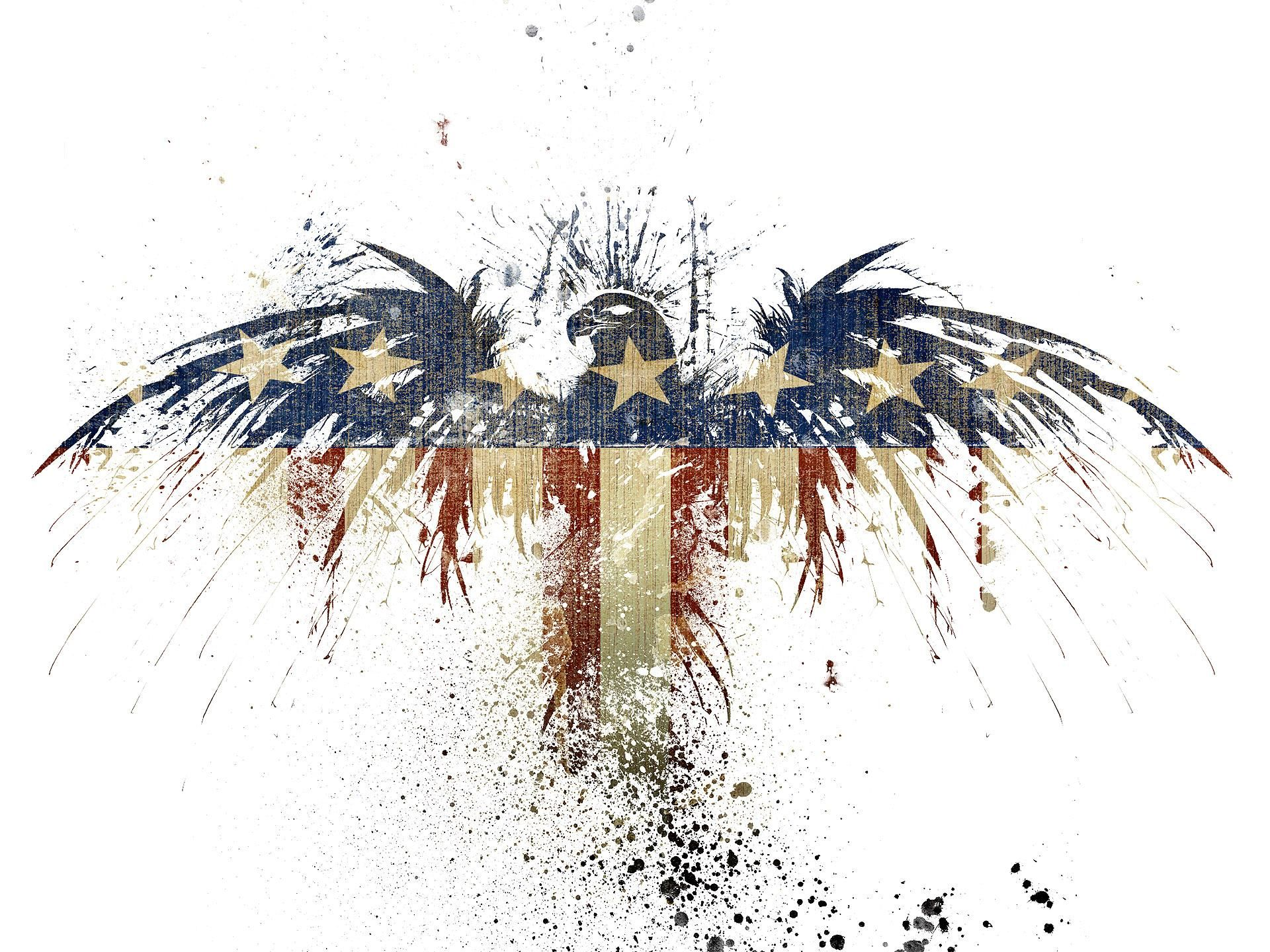 Patriotic Images America American Flag With Eagle Drawing