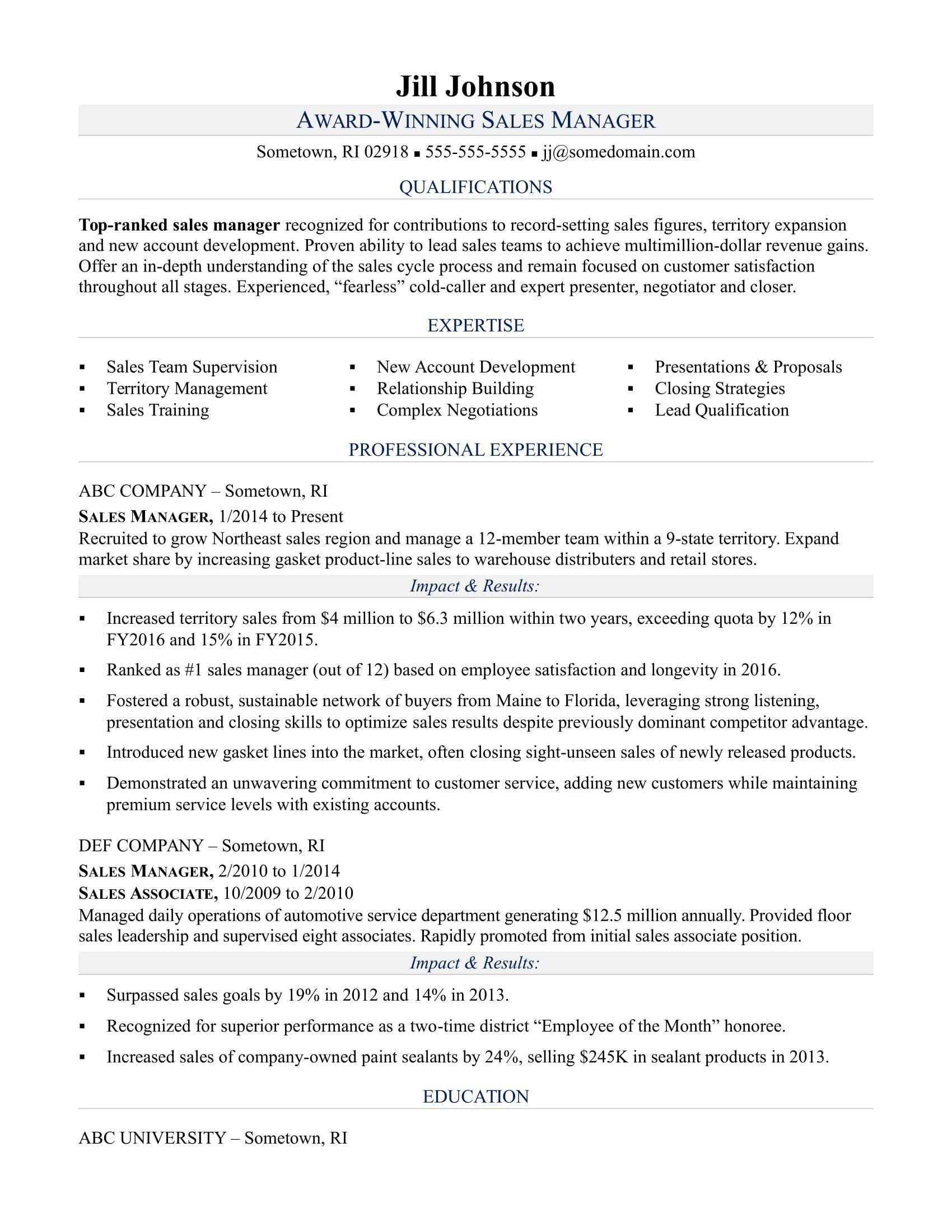 Store Clerk Sample Resume Sample Resume For A Sales Manager  Cv  Pinterest  Sample Resume .