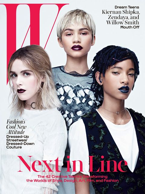 SNAPSHOT: Willow Smith Zendaya & Kiernan Shipka Covers W Mag   Photo credit : W Magazine  black fashion bloggers celebrities chanel kiernan shipka people photoshoots w magazine Willow smith young celebrity zendaya