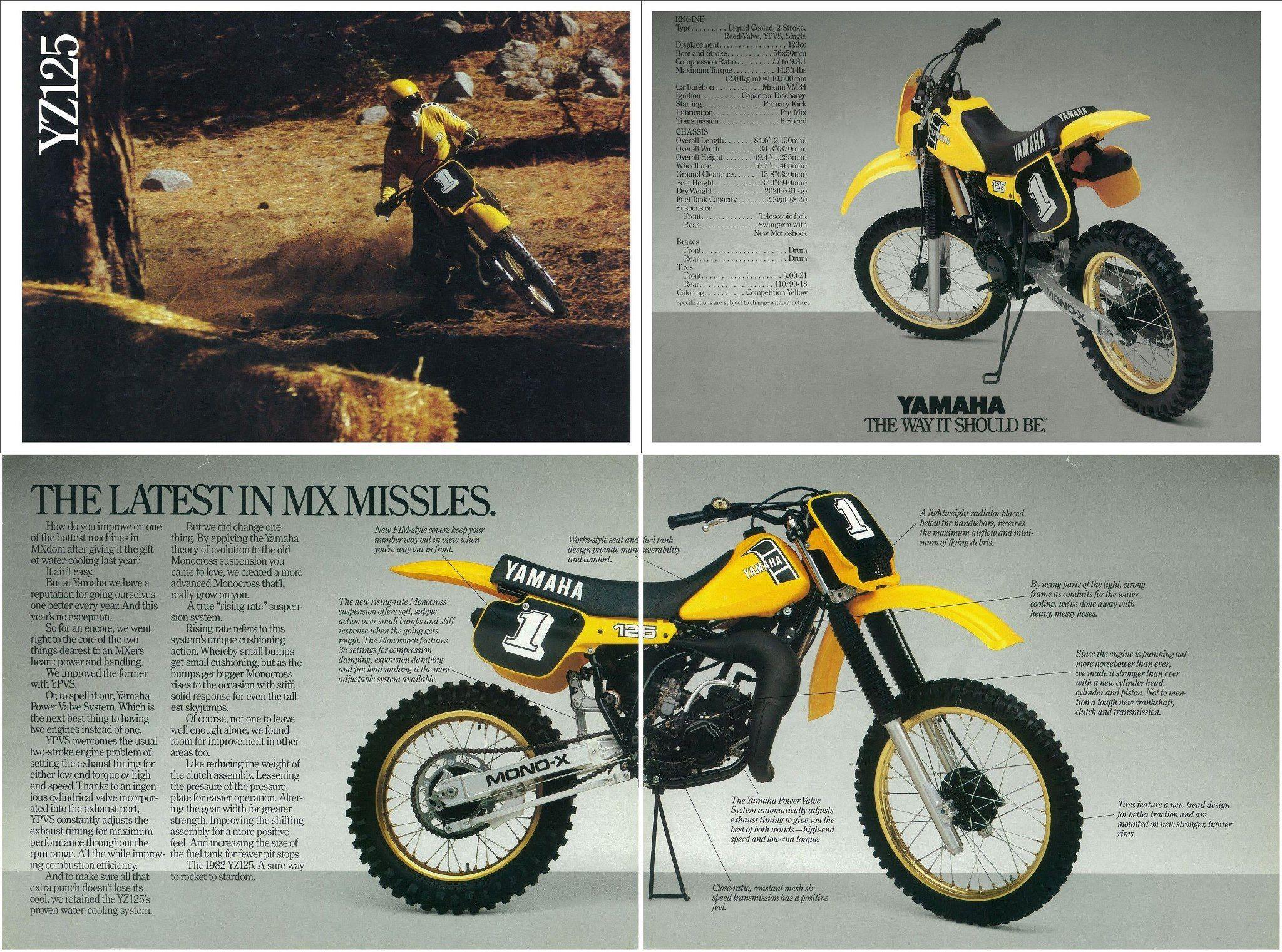 1982 Yamaha Yz125 I Had The 1982 Yz100 When I Was Younger Great Bike Vintage Motocross Yamaha Bikes Dirtbikes