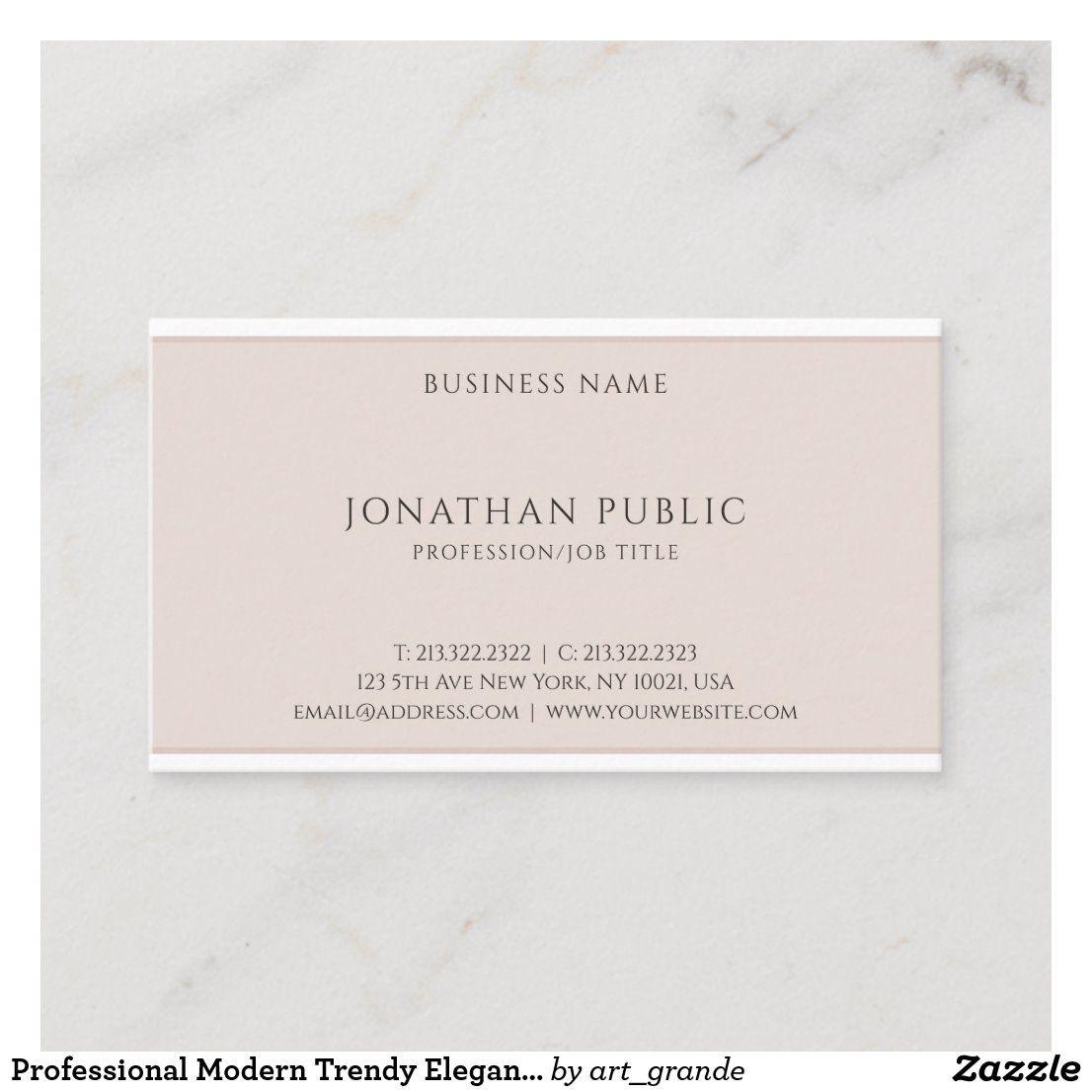 Professional Modern Trendy Elegant Template Business Card