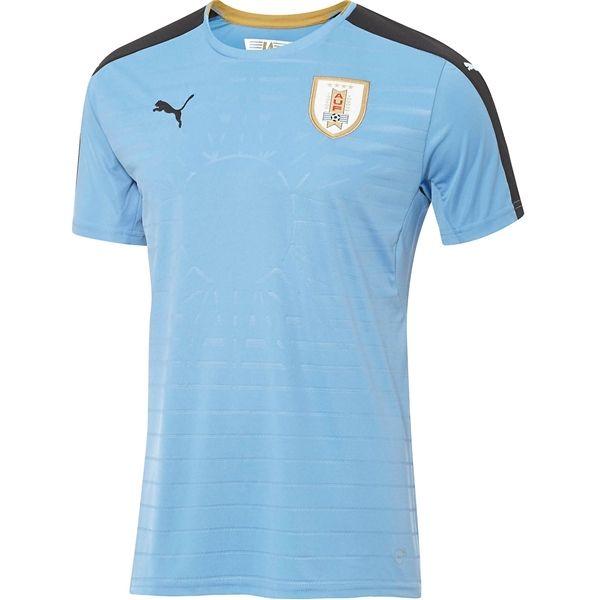 Uruguay 2016 Home Soccer Jersey - Football shirts, Soccer jersey, Shirts