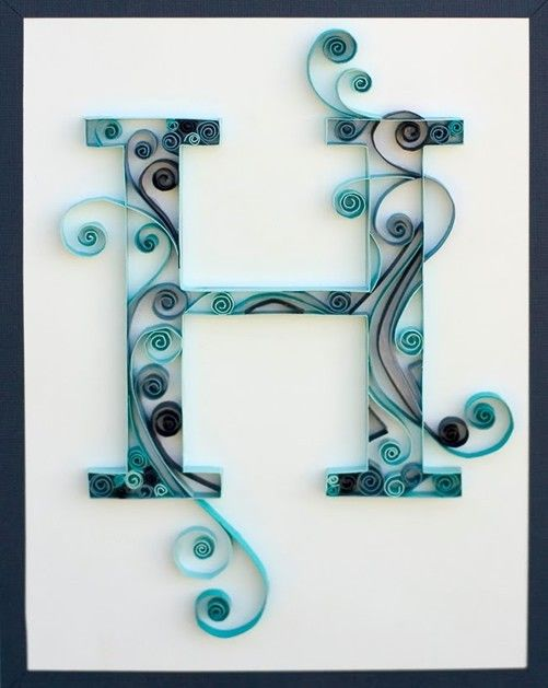How To Quilled Monogram