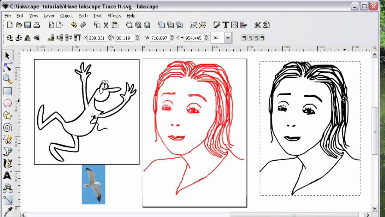 Inkscape Convert Photograph to SVG (With images
