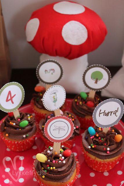 Eventyr-bursdag. Muffins-topper.