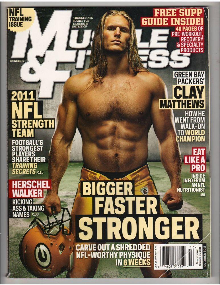 MUSCLE & FITNESS bodybuilding magazine/CLAY MATTHEWS NFL