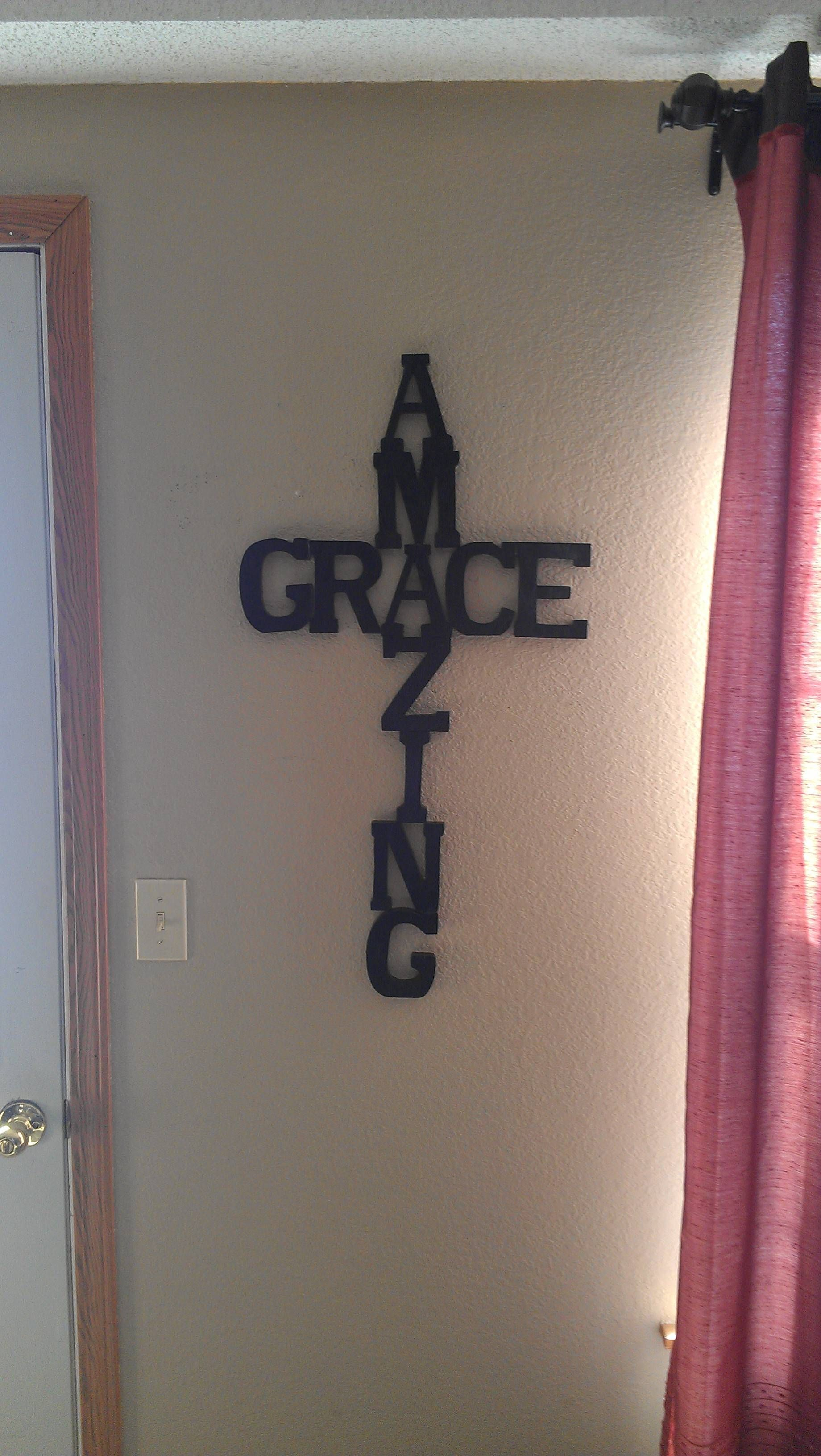 Love this! I love the song Amazing Grace and love crosses! This is an idea for my home.