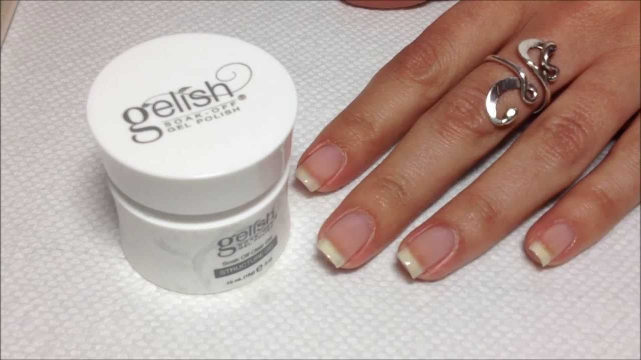 How To Apply Harmony Gelish Structure Gel Gelish Structure Gel Gel Nail Tutorial Gel Nails Diy