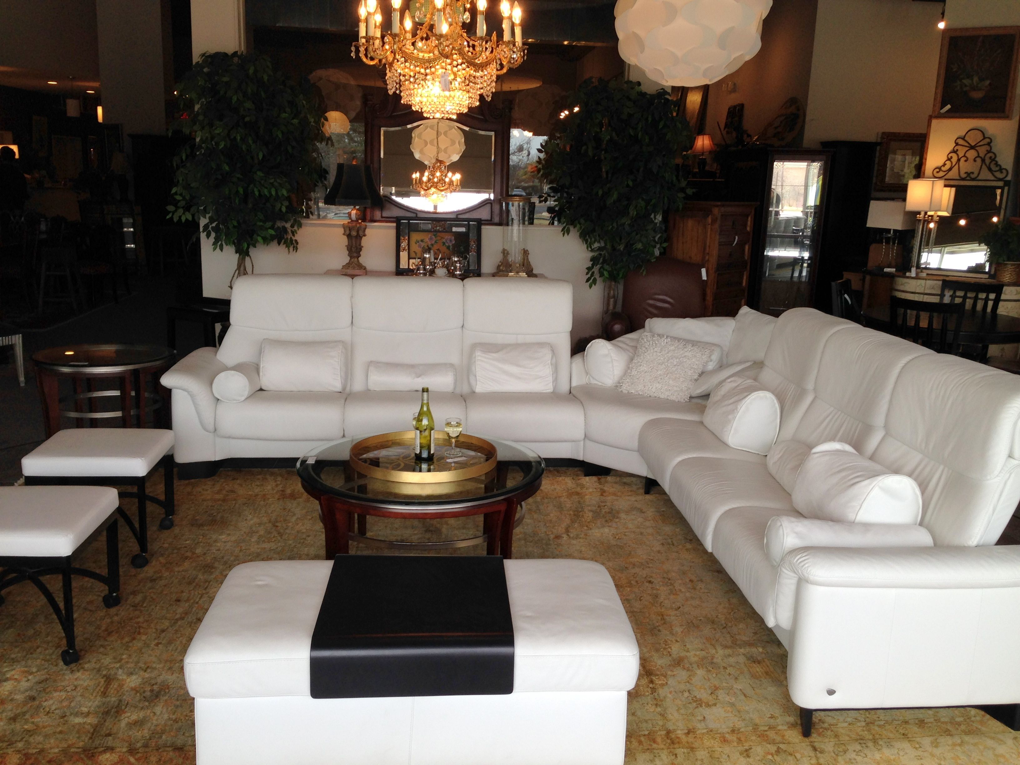 White Ekomes Sectional Found At Design With Consignment In Austin