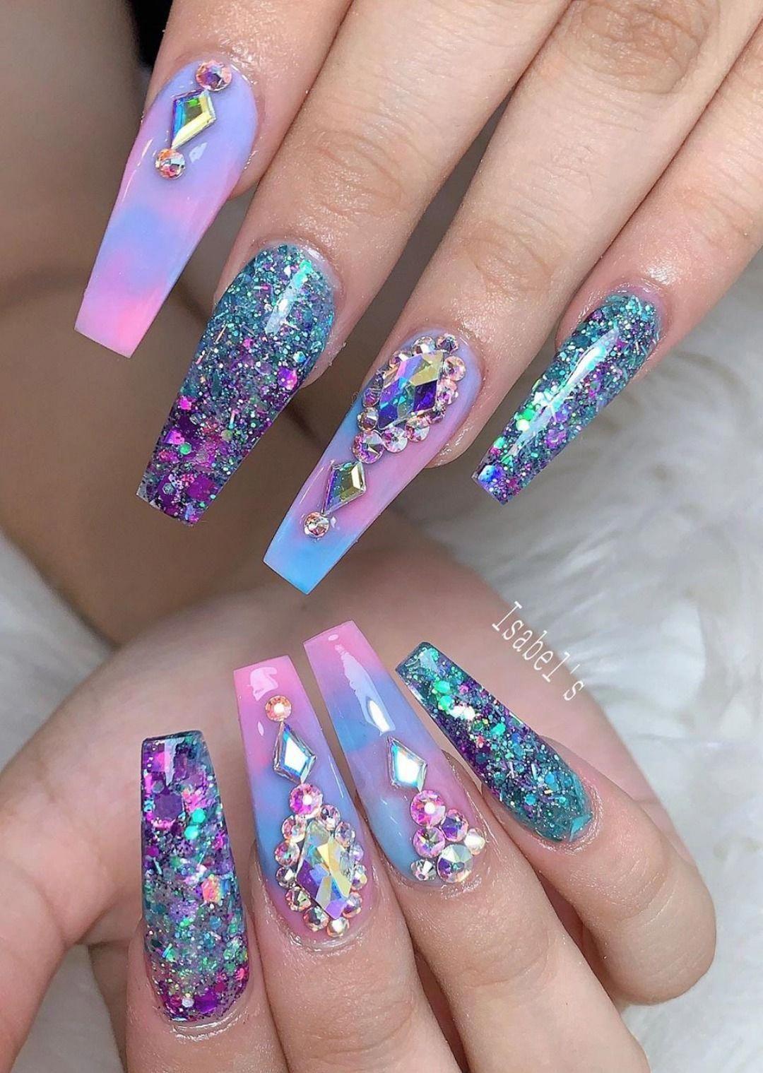 Shiny gradation | Nail art, Nails, Shiny