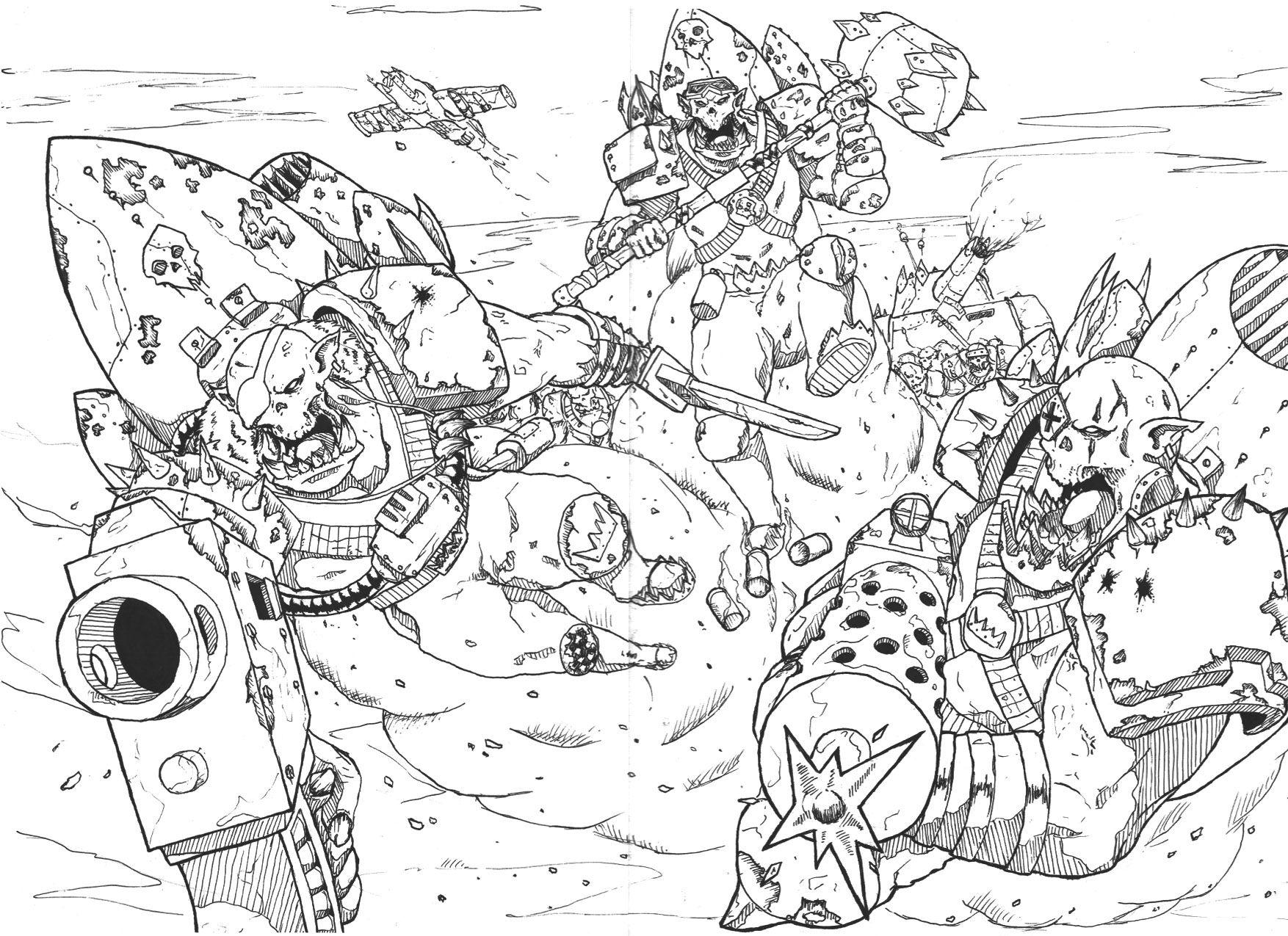 Bw Jump Pack Knife Mydeads Orks Stormboy Warhammer Warhammer