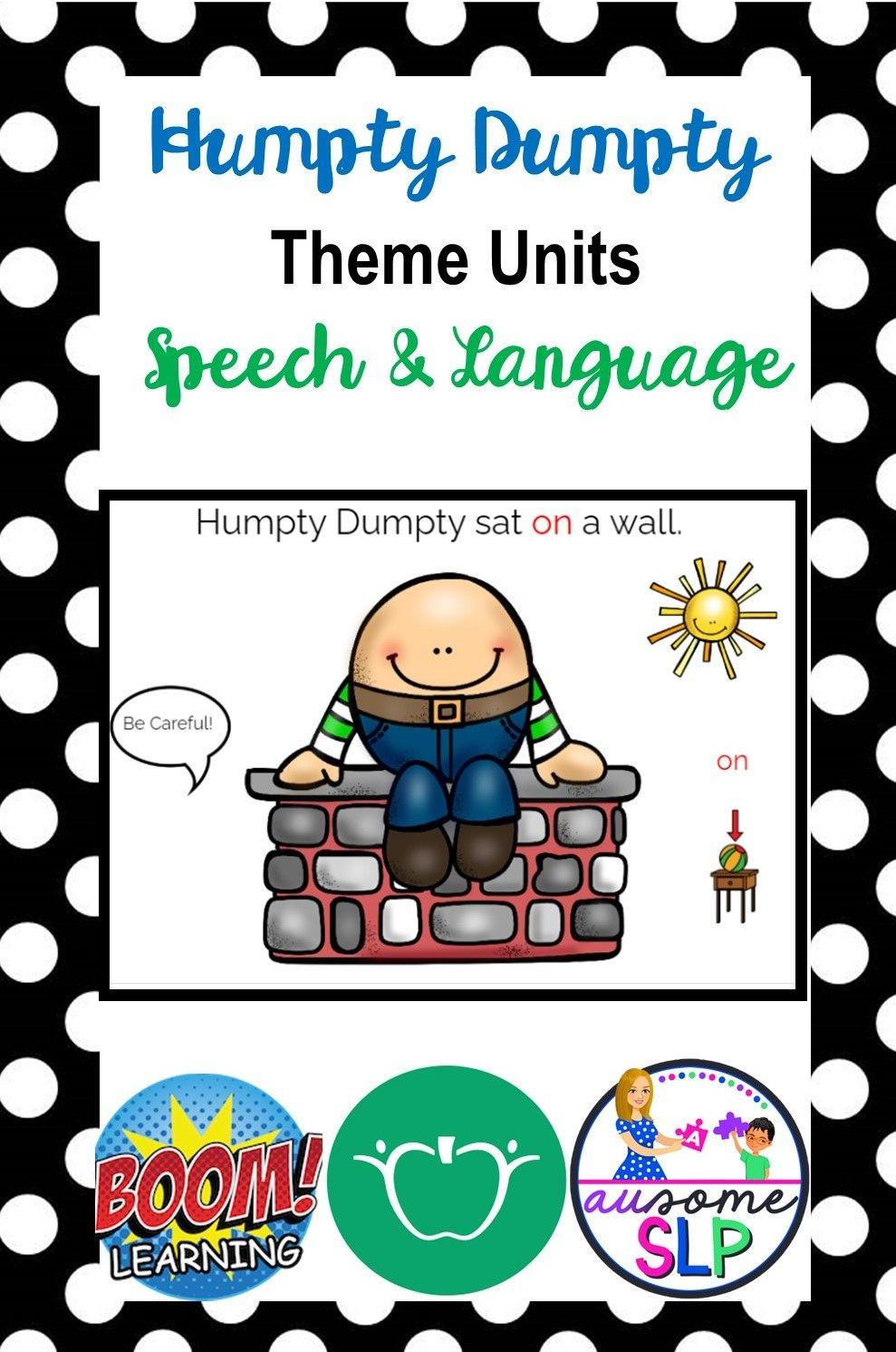 Nursery Rhyme Theme Unit: Humpty Dumpty
