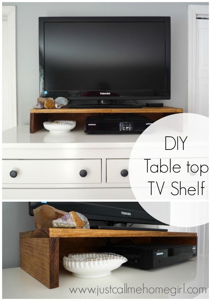 How To Make A TV Shelf For On Top Of Your Dresser Or Console! Very