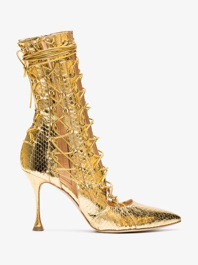 Lane Boots other brands Lace Liudmila 100 Up Gold Drury ZxwAEP