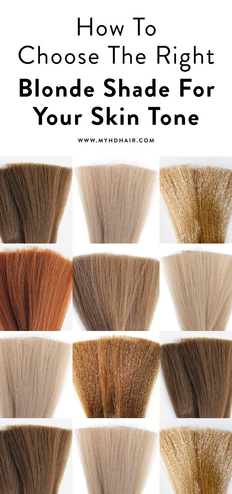 How To Choose The Right Blonde Shade For Your Skin Tone Skin Tone Hair Color Shades Of Blonde Pale Skin Hair Color