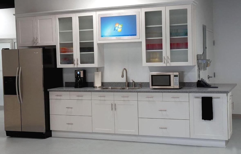 Küche Hängeschränke Mit Glastüren Vitrine Glas Panels Für ...