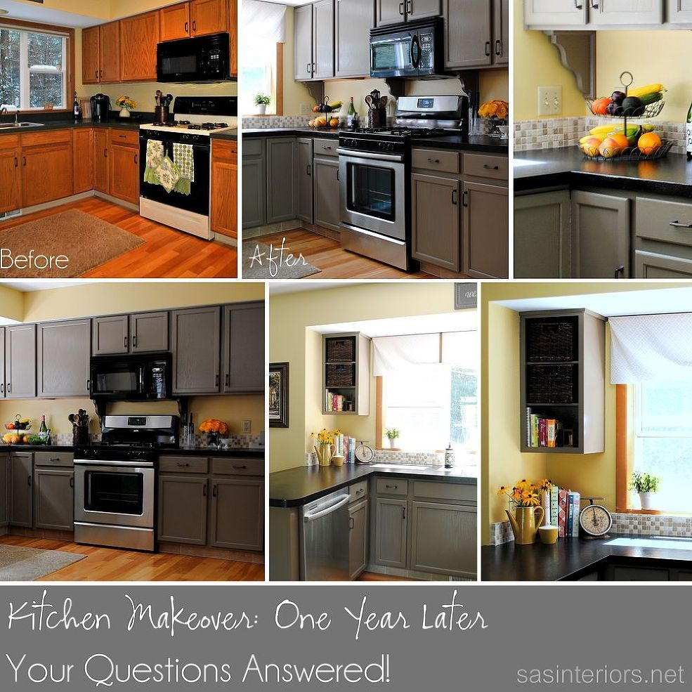 Kitchen Cabinet Makeovers On A Budget: Kitchen Makeover Update: One Year Later