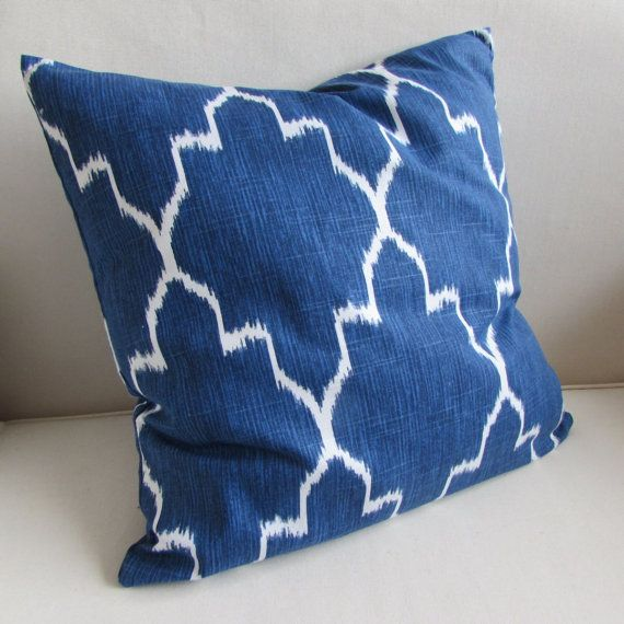 MONACO COBALT Blue White Pillow Cover 40x40 40x40 40x40 40x40 40x40 Inspiration Etsy Pillow Covers 20x20