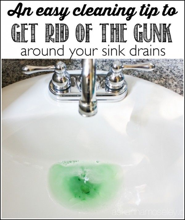 How To Clean The Gunk Around The Sink Drain Ask Anna Bathroom Sink Drain Sink Drain Sink