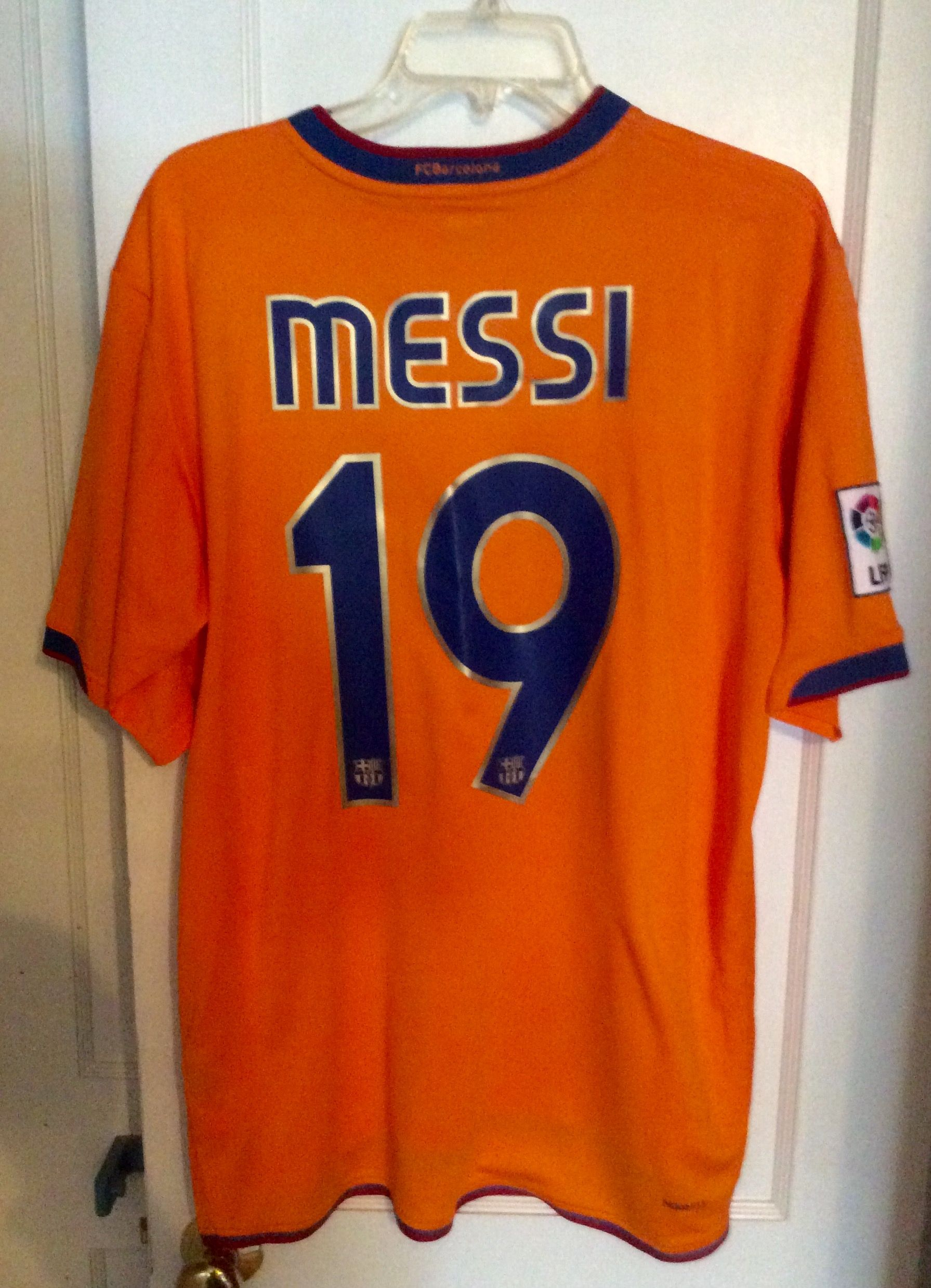 official photos 8a993 9a983 Lionel Messi Barcelona 2007-2008 Rare UCL vs Rangers ...