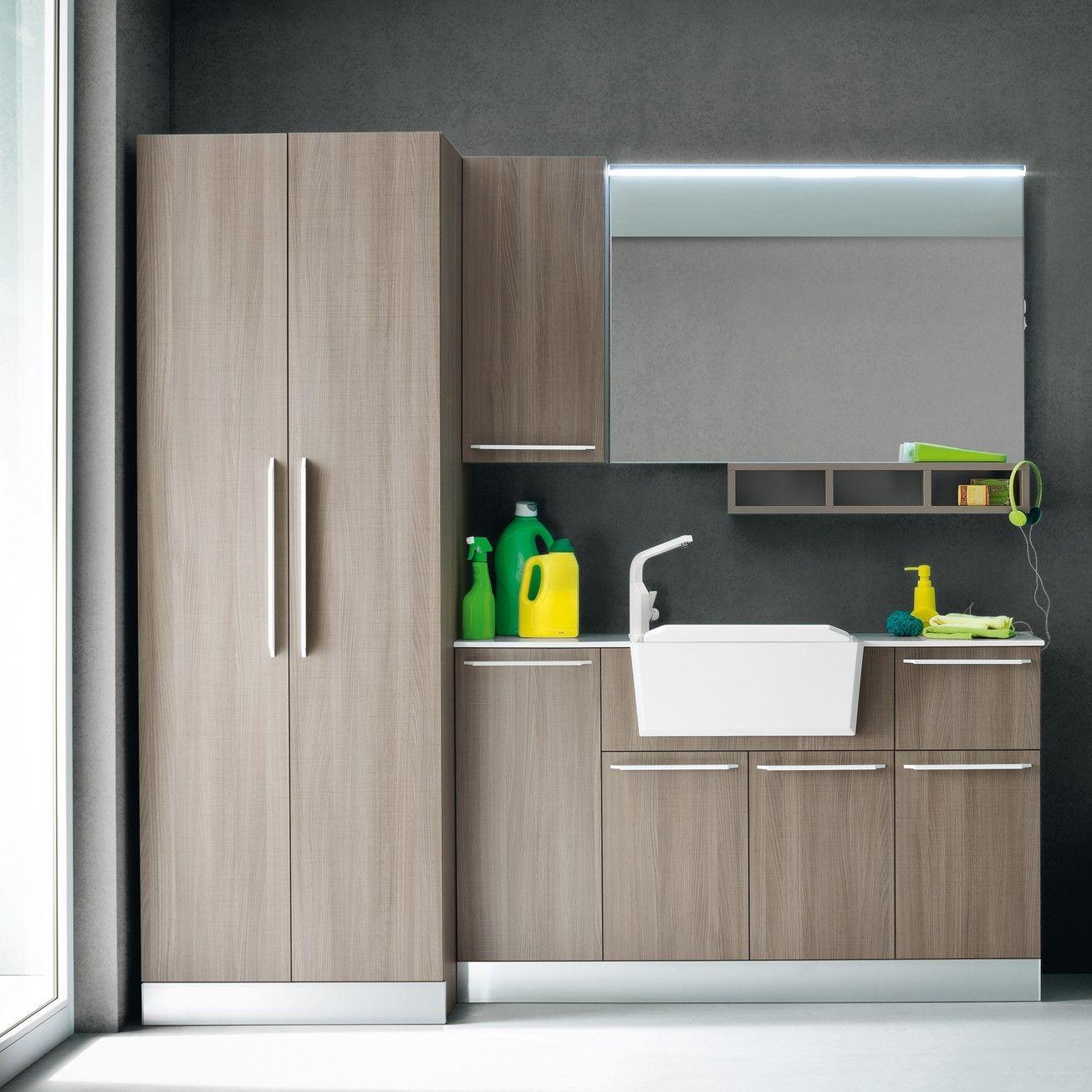 hochschrank mit einlegeb den f r die waschk che arredaclick badezimmer pinterest. Black Bedroom Furniture Sets. Home Design Ideas