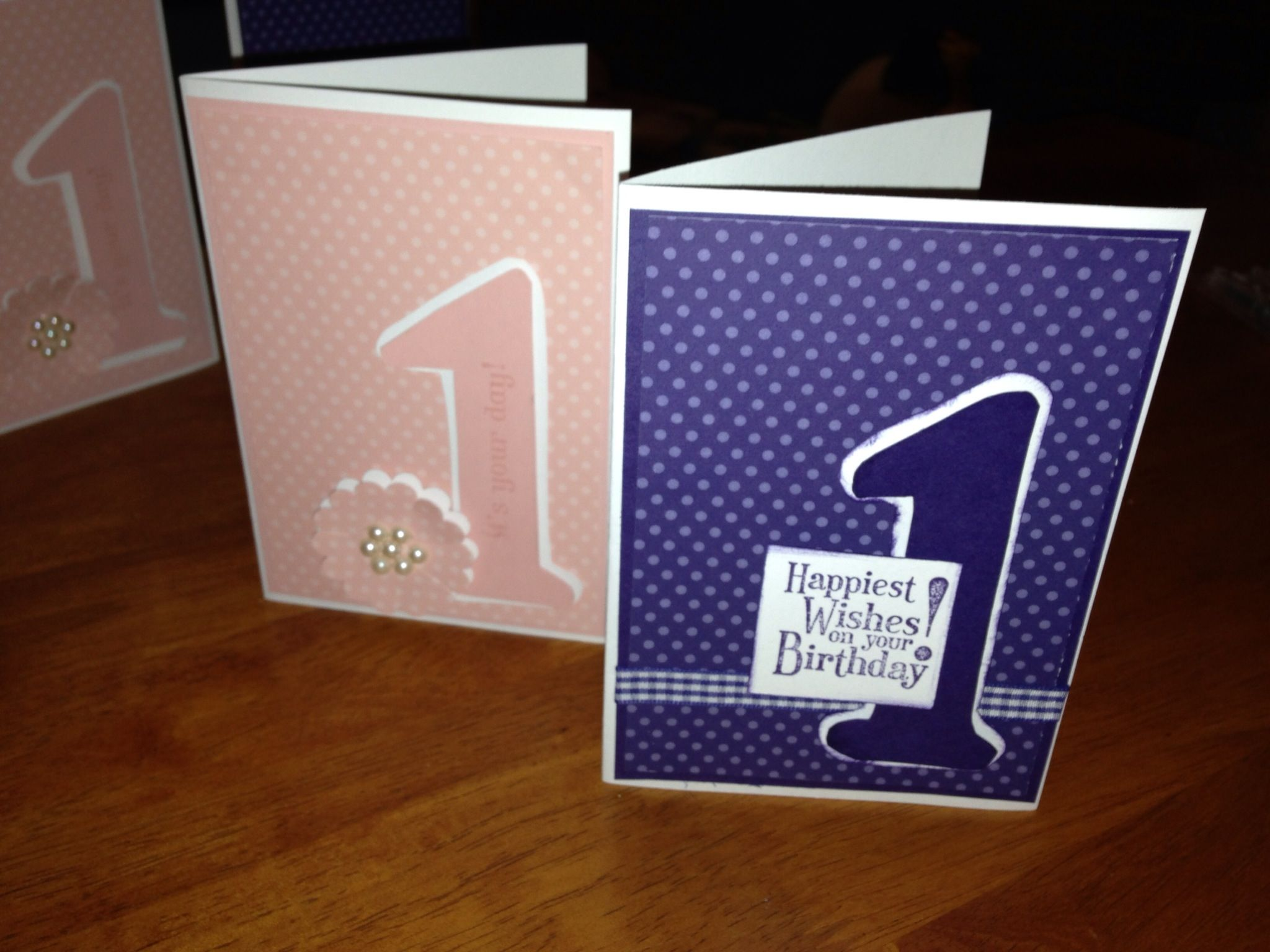 First Birthday Cards Simple To Make Boy Or Girl Zachary S