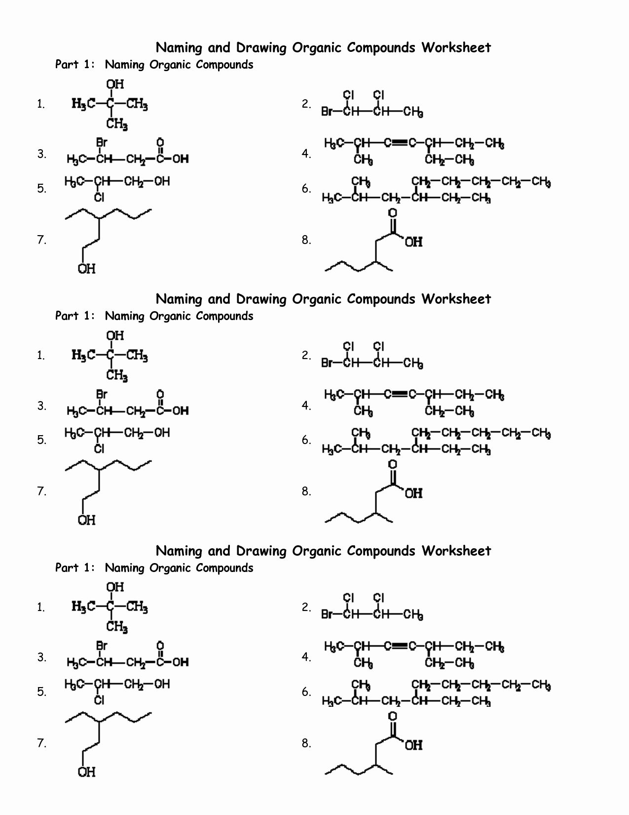 50 organic Molecules Worksheet Answer Key in 2020 (With