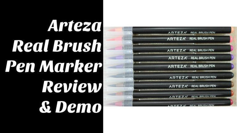 Arteza Real Brush Markers Review And Demo Brush Markers Markers