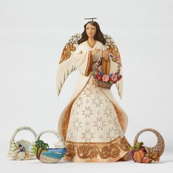 Today Is A Blessing-Seasonal Angel with Four Baskets
