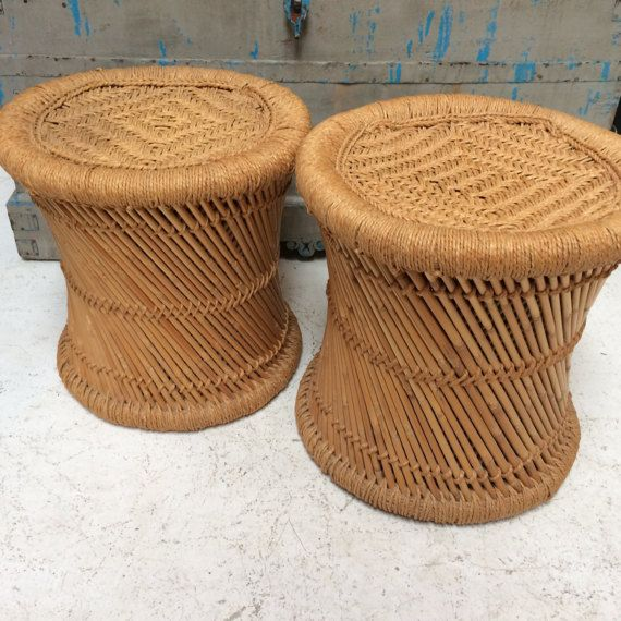 Enjoyable Woven Indian Mooda Straw Stools By Huntergathererbiz On Etsy Gamerscity Chair Design For Home Gamerscityorg