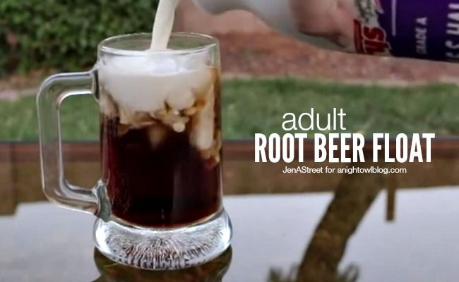 Adult Root Beer Float - a fun adult twist on a Summer classic!