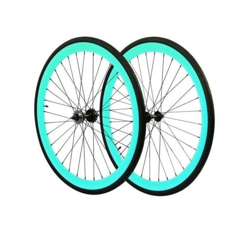 Details About Fixie 700c Deep 45 Mm Fixed Front Rear Wheels Set