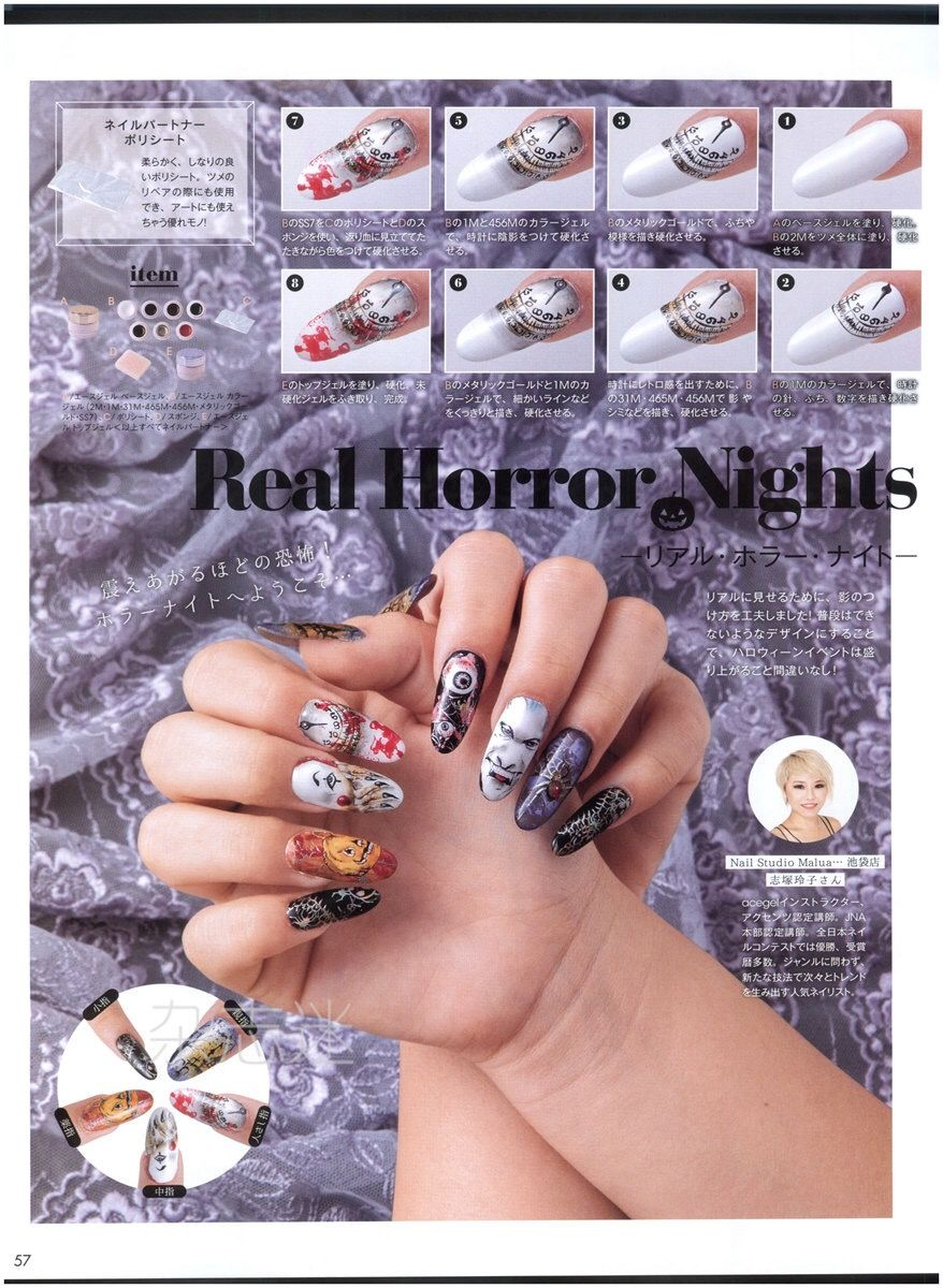 Real horror nights nail art halloween ideas nail designs