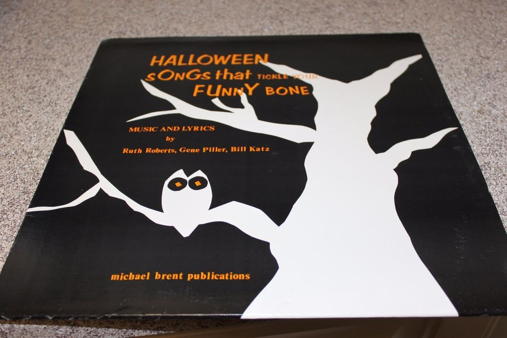Michael Brent Publications HALLOWEEN SONGS THAT TICKLE YOUR FUNNY BONE LP 1974 #FunnyHalloweenSongs