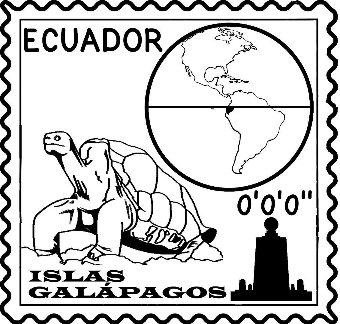 Ecuador Stamp Sello De Ecuador A Must Have For Spanish
