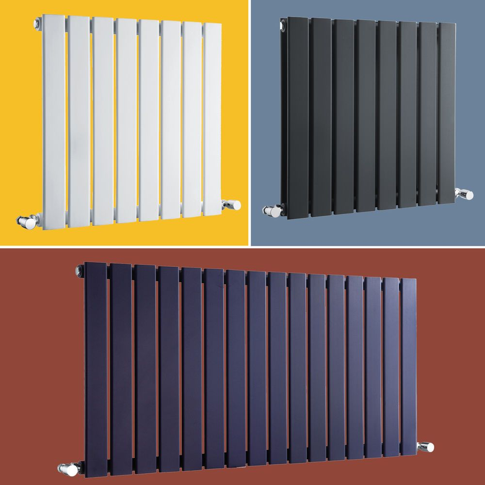 Designer Central Heating Radiator Horizontal Flat Panel Bathroom 600 ...