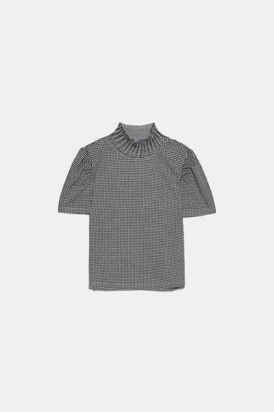 T shirt with puff sleeves | WOMEN'S TOPS in 2019 | Sleeves