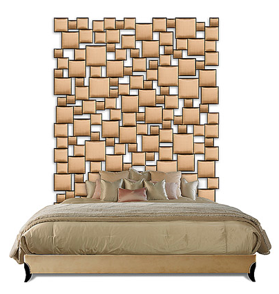 Cabecero de espejos Another spectacular bed with mirrors Via Christopher Guy