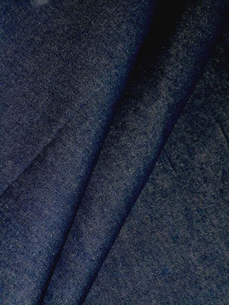 Extra Wide Blue Cotton Denim Decorator Fabric Multipurpose Home
