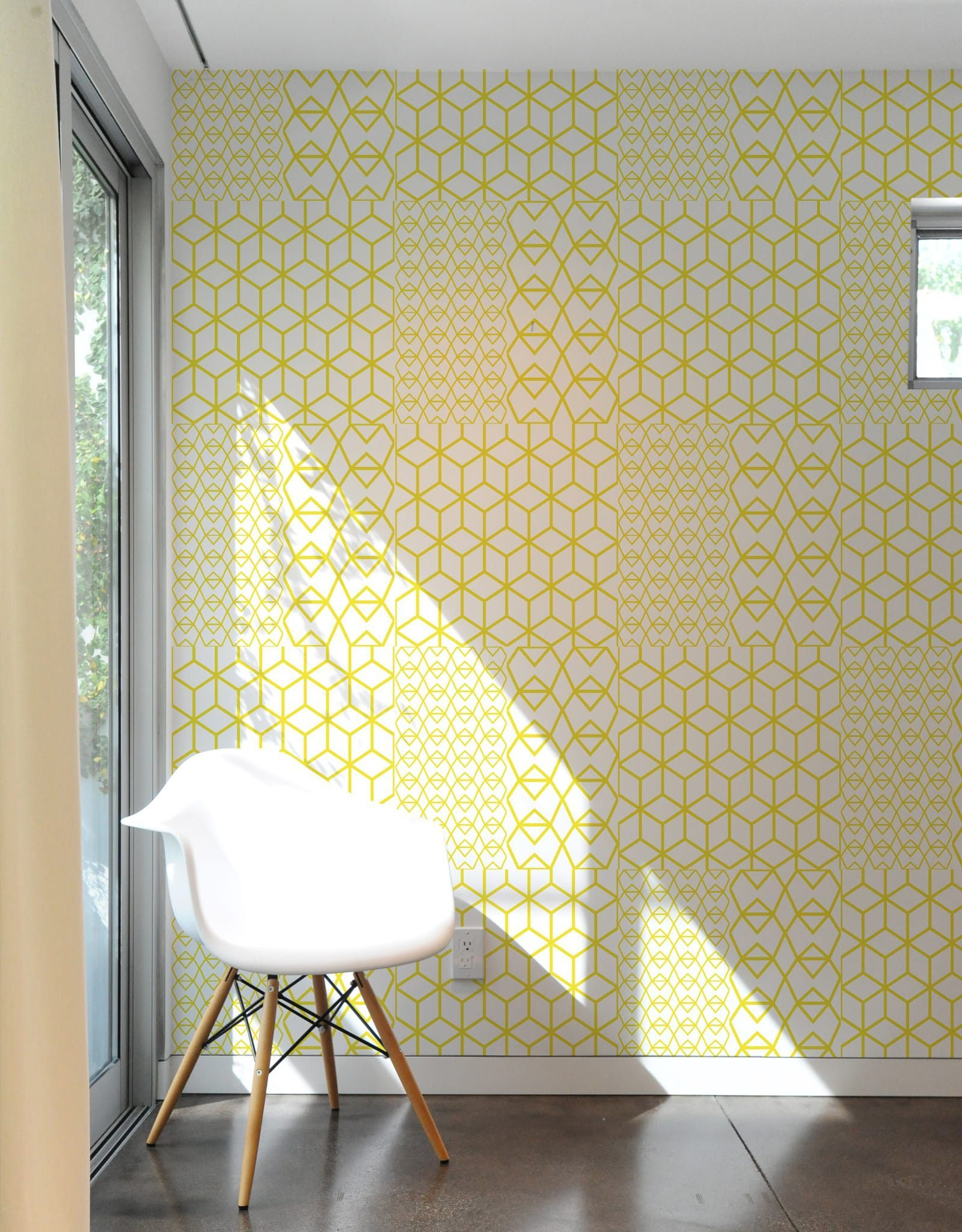 Fold Yellow Crystal Pattern Wall Tiles | future | Pinterest ...