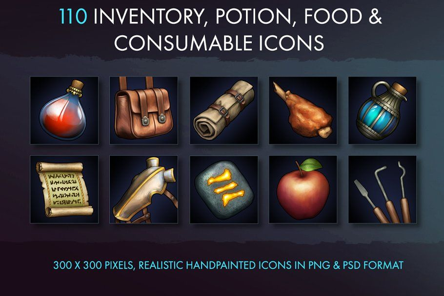 Inventory Potion Food And Misc Icons Icon Cool Logo Potions