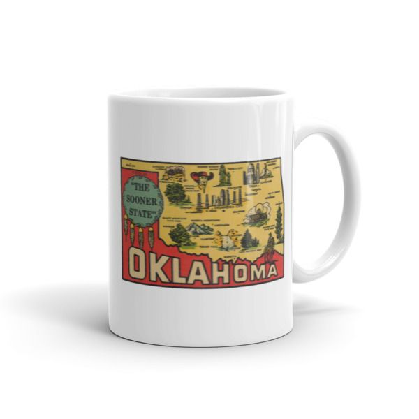 Vintage Oklahoma Map Mug 1