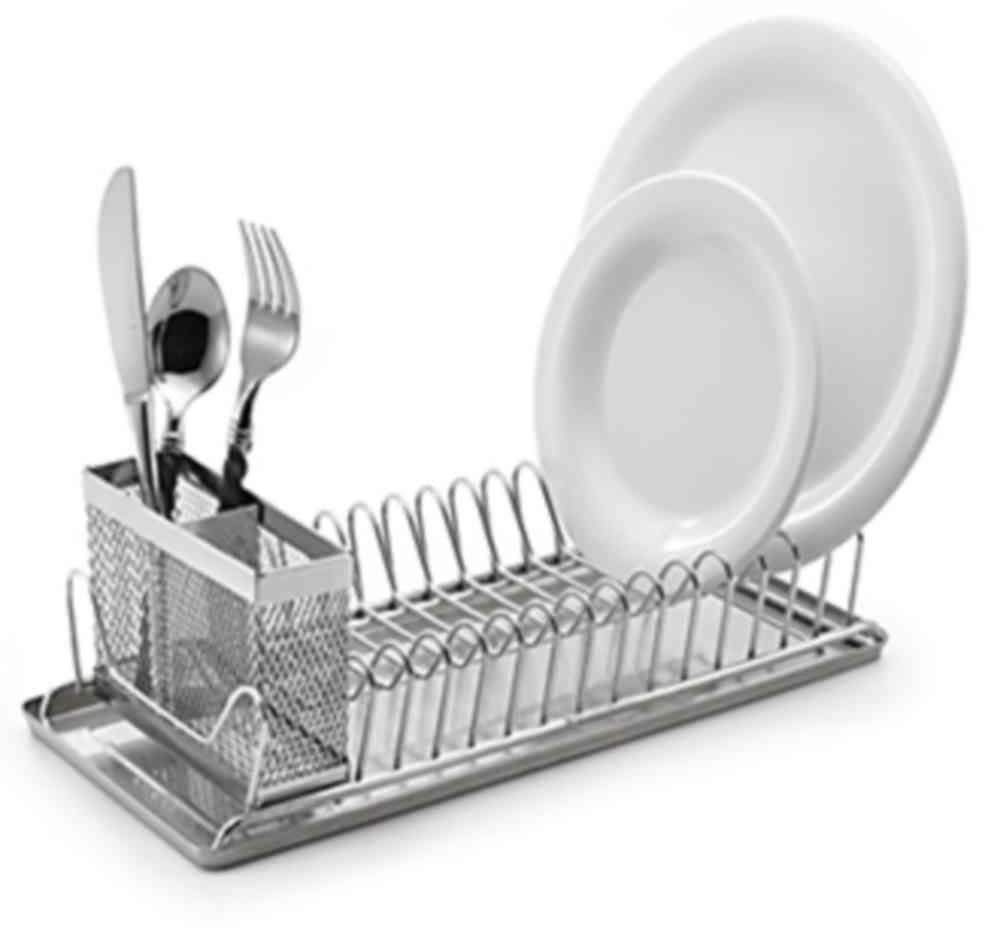 Compact Dish Rack Stainless Steel Countertop With Removable