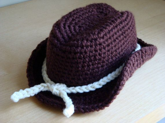 Crochet Cowboy Hat Newborn Baby Sizes By Fiberflowersandbeads