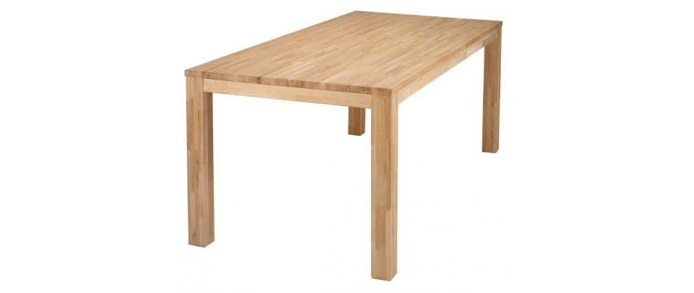 Mesa de comedor diseño 200x90 en roble LUPA - Miliboo | Homy ...