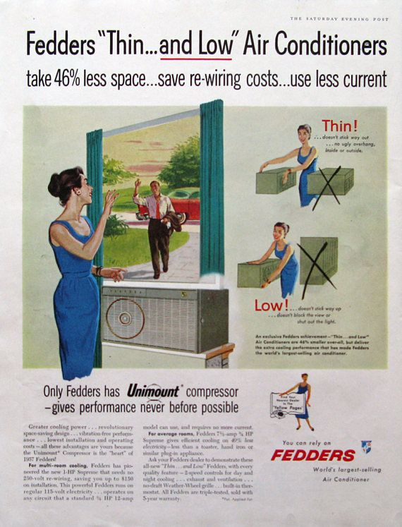 All The Colours Of The Dark Federale 1957 Fedders Air Conditioner Print Ad Retro 1950s Family Etsy Print Ads Vintage Advertisements Guerilla Marketing