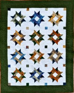 Entwined Star Online » Academy of Quilting $40.00 This beautiful starry quilt is truly patchwork when made as a scrappy quilt. Mix and match your colors for that old fashioned patchwork look or use a three fabric combination