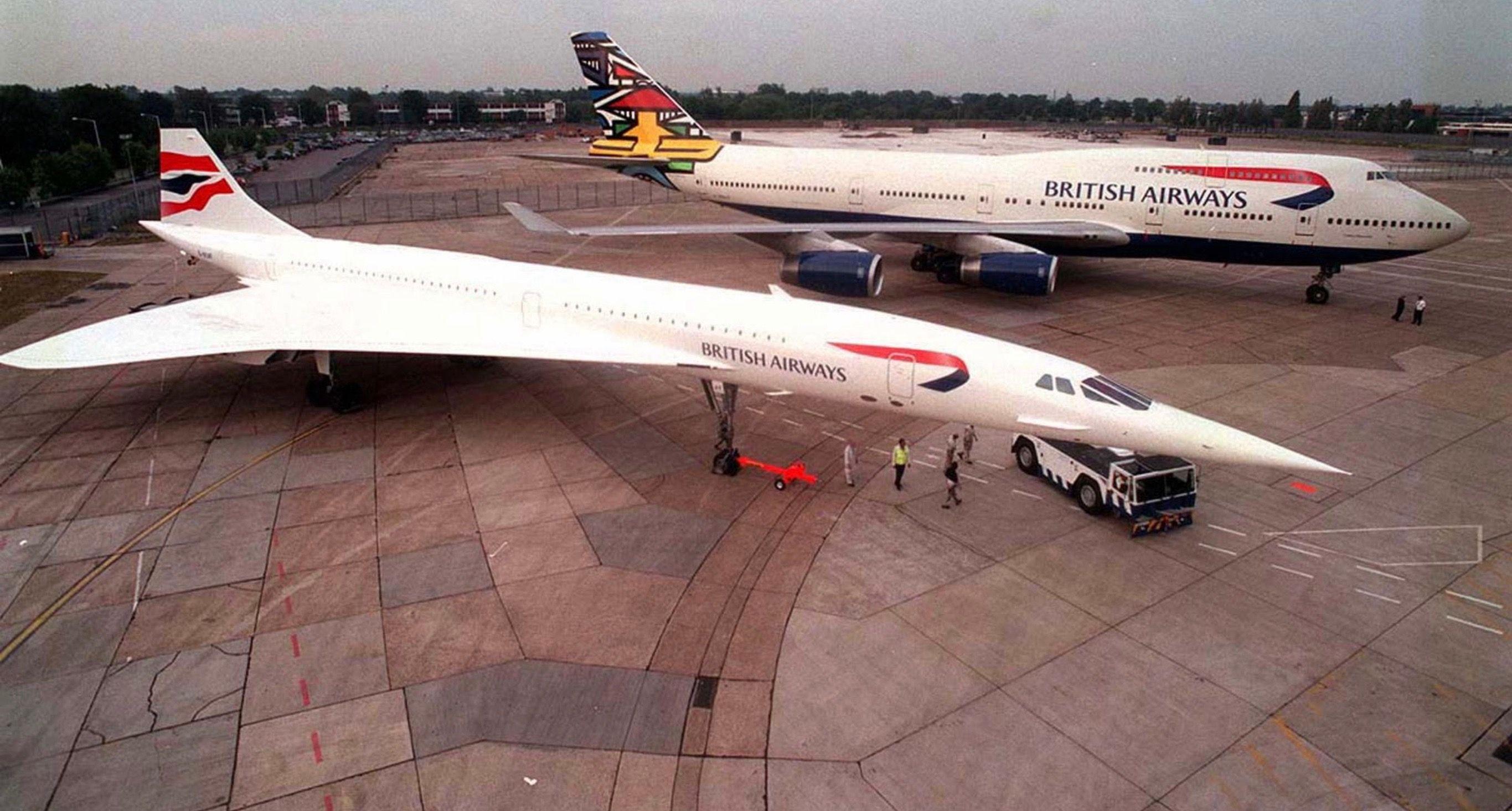British Airways Concorde SST Vs Boeing 747