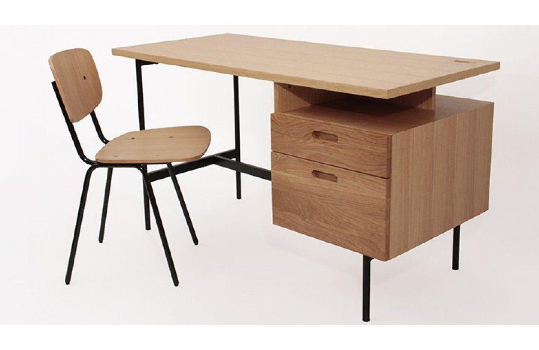 Ernest bureau vintage en bois table design meuble sodezign